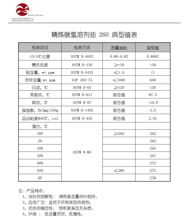 PARA-SOLVENT 260 精炼碳氢溶剂油 质量标准-01.jpg